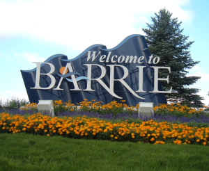 Barrie, Ontario outdoor sign